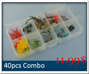 40pcs-Fishing-flies-combo-set-with-box
