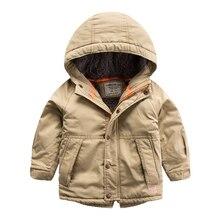 Дети с кашемир пальто 2016 зима новый stick молния С Капюшоном zip top coat boy ребенка в тепле