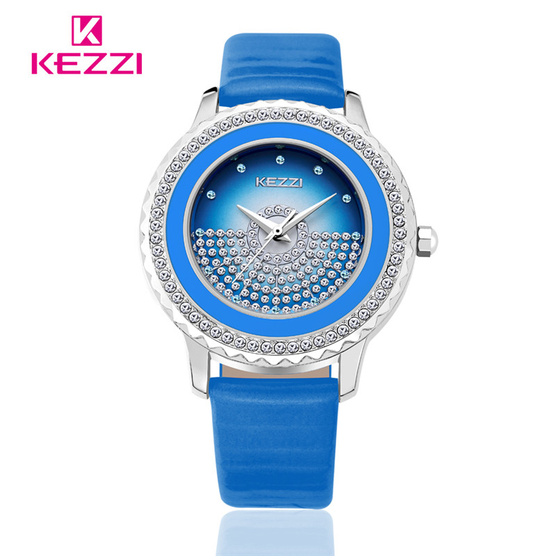все цены на Free shipping Kezzi Women's Ladies Watch Quartz Analog Leather Dress Wristwatches Gifts Classic Casual Waterproof relogio K1278 в интернете