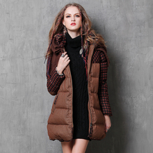 Down Coat 2017 Boho New 90% White Duck Jacket Women Winter Coats Poncho Plaid Patchwork Warm Belted Long Thicken Parka B9553