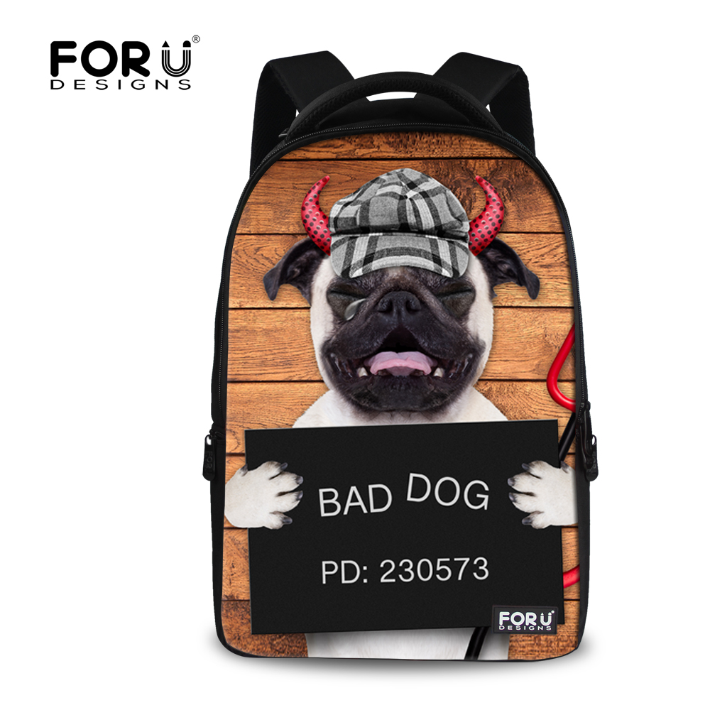 ФОТО Funny French Bulldog Printing Men Backpack Large Animal Printing Laptop Backpack for Student Boys Casual Travel Luggage Rucksack