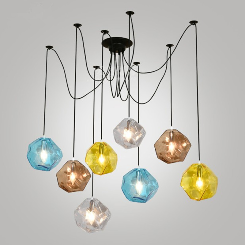 Modern colorful glass pendant lamp art chandelier G9 led suspension lighting fixture for bar restaurant dinning room modern pendant lamp the colorful glass led pendant restaurant sitting room bar stores chandeliers light fixture page href page 5