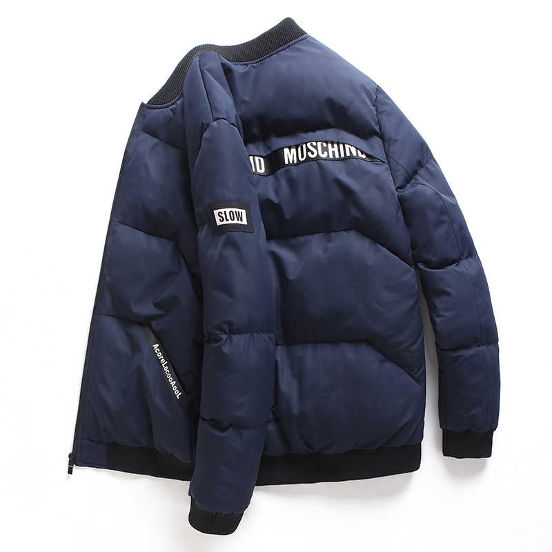 2018 新冬ジャケット男性コートカジュアルスタンド襟綿が詰めブランドファッションパーカー男性のジャケットやコート暖かい服 M-4XL