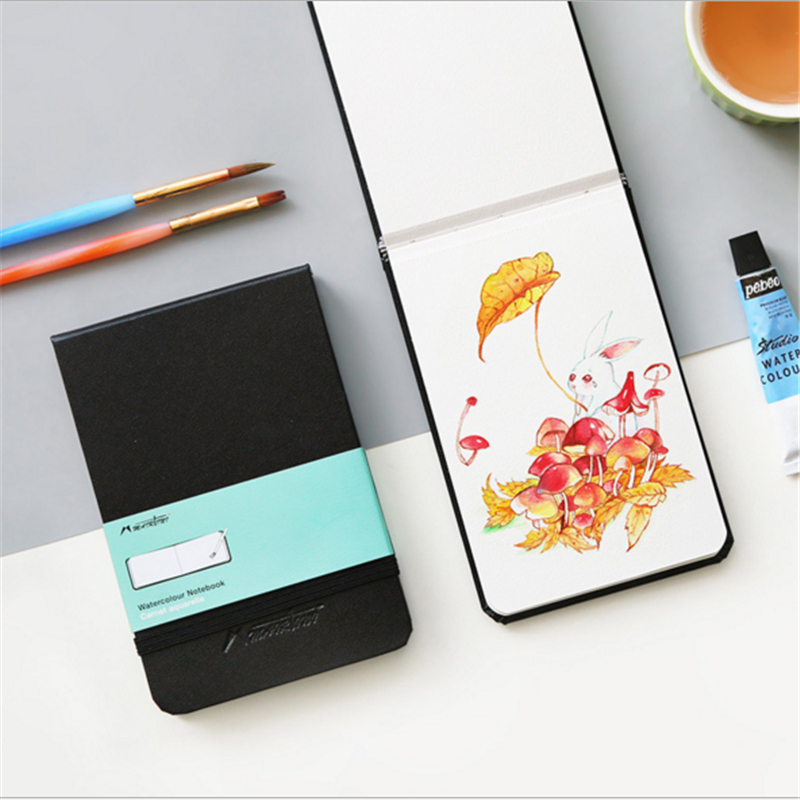 Portable A6 Hand Book Painting Watercolor Sketchbook Diary Simple Bullet Journal School Office Stationery Learning Gift