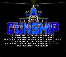Gun Ship 16 bit MD Game Card For Sega Mega Drive For Genesis