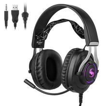 A-K10 Gaming Headphones for Computer PC Games Wired Earphone Led HD Bass USB Gaming Headset for PS4 Xbox one with mic brand ttlife a8 gaming headset shock led bass sound earphone 2 0m wired headphone voice control with mic for computer gaming