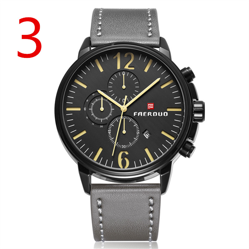 2018 sports and leisure quartz watch, leather strap, light weight, youthful vitality