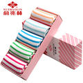 5 Pack Women in the tube cotton socks solid color sweat four seasons casual socks autumn candy colored cotton socks Gift Boxes