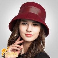 2018 הגעה חדשה אופנה סתיו וחורף כובע כיפת כובע צמר שחור ולבן כומתות כובעי נשים כובע צמר כובע אגן B-7045