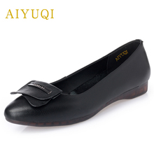 AIYUQI spring new women's genuine leather flat shoes .comfortable breathable ladies shoes .professional casual work nurse shoes aiyuqi 2018 new spring genuine leather female comfortable shoes bow commuter casual low heeled mother shoes woeme