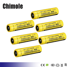 6 unids NL189 Nitecore 18650 3400 mAh 3.7 V 12.6Wh Linterna batería Recargable Li-on de Baterías de alta calidad con proteger
