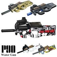 P90 Electric Toy GUN Water Bullet Bursts Gun Live CS Assault Snipe Weapon Outdoor Pistol Toys lepin