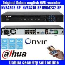 original English Dahua NVR 8ch 16 ch 1U Network Video Recorder NVR4208-8P NVR4216-8P NVR4232-8P 1 HDMI 1 VGA 8 PoE ports