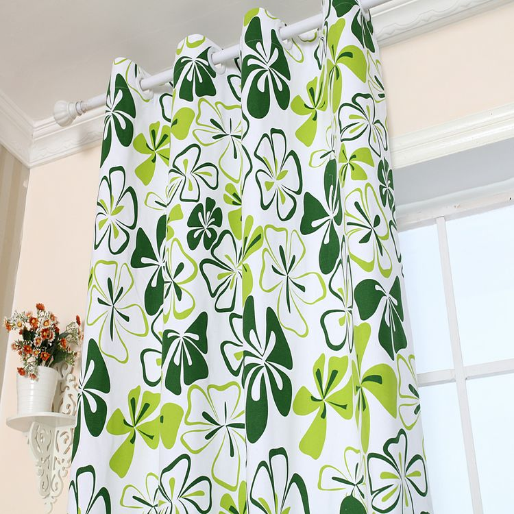 MYRU Tuin stijl groene vlinder bloem canvas gordijnen semi schaduw ...