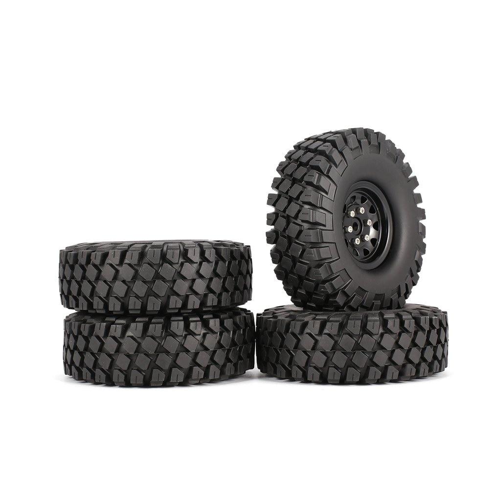 4 Pcs AUSTAR AX-6020 1.9 Inch 110mm Rubber Tires Tire with Metal Wheel Rim Set for 1/10 Traxxas TRX-4 SCX10 RC4D90 RC CrawlerCar4 Pcs AUSTAR AX-6020 1.9 Inch 110mm Rubber Tires Tire with Metal Wheel Rim Set for 1/10 Traxxas TRX-4 SCX10 RC4D90 RC CrawlerCar