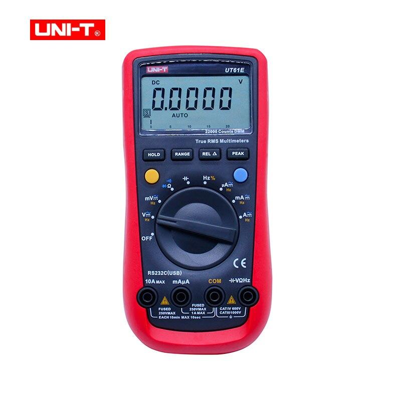 UNI-T UT61E Numérique Multimètre PC Connecter AC DC Tension Mètre Data Hold Mode 22000 Compter Affichage LCD Écran Haute Fiabilité