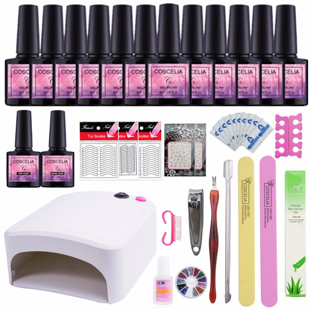12Color Nail Gel Soak-off Gel polish Top & Base Coat gel nails polish kit 36W UV Led art tools kits sets manicure hot server motherboard mainboard 441449 001 441418 001 for hp xw4600 x38