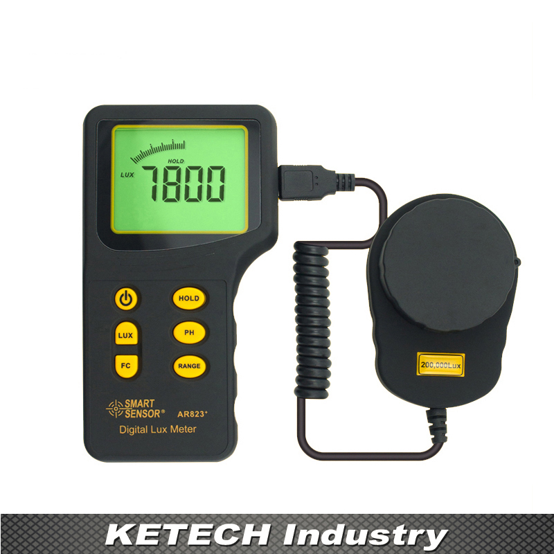AR823 Digital Portable Light Lux Meter (1-200.000lux) brand new professional digital lux meter digital light meter lx1010b 100000 lux original retail package free shipping