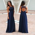 Bridesmaids Alert!!! This super elegant Navy Crochet Maxi Dress with Open Back is BACK! Perfect for any special occasion!