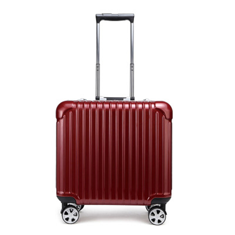 18 Inch Aluminum Travel Suitcase Spinner Rolling Luggage