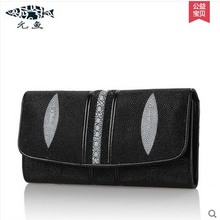 yuanyu free shipping 2017 hot new women bag real women clutches Pearl fish skin wallet long fashion leisure women wallet purse