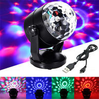 BEIAIDI Voice Control RGB Magic Ball LED Stage Lamp USB Or Battery Powered Laser Projector Disco