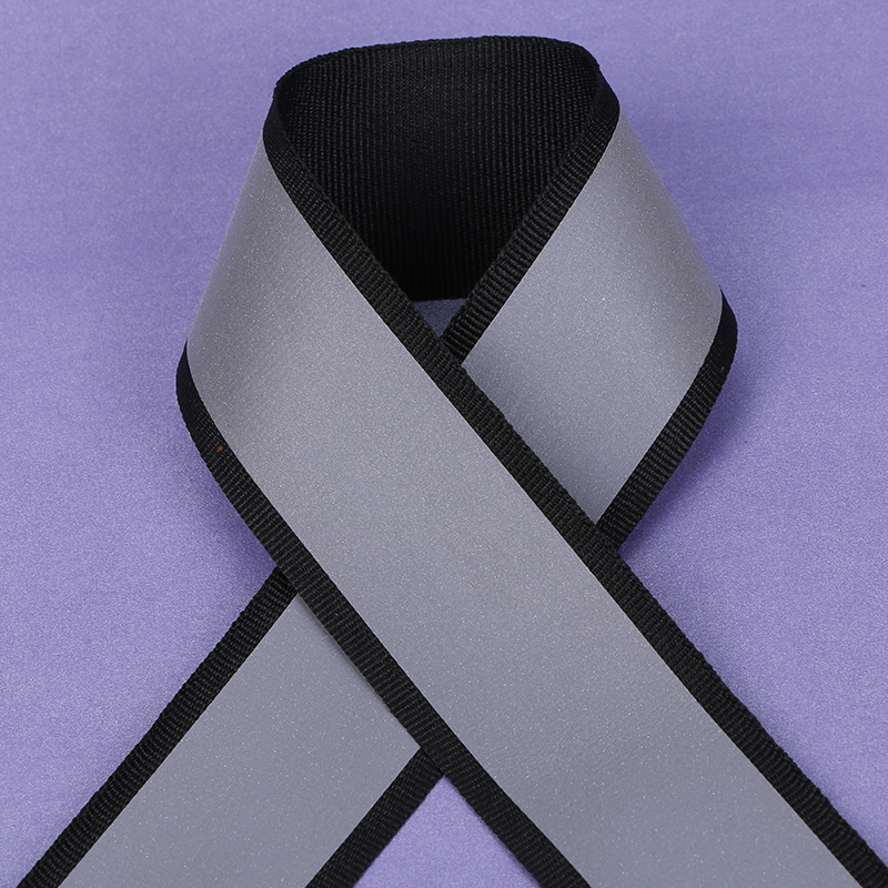 100 Meter,4*3cm Width,Black Reflective Fabric Ribbon Webbing Reflection Strip Edging Braid Sewing Accessories