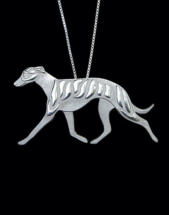 1PCS cartoon Boho Chic Alloy Whippet movement necklace Greyhound dog pendant jewelry Silver/gold colors plated