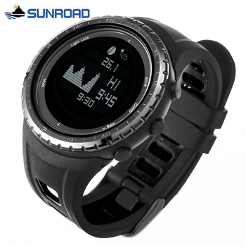 SUNROAD Mens Watches Top Brand Luxury Digital Sport Watch Men World Time Tide Wrist Watch Military Army Clock Relogio Masculino 1