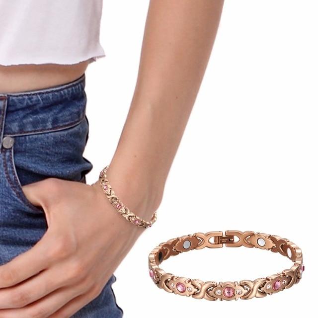 Купить женский браслет welmag из нержавеющей стали с кристаллами золотая