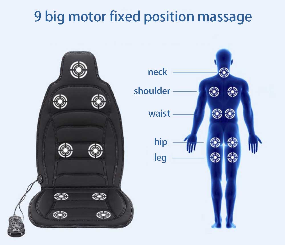 Car massage device multifunctional full-body home chairs cushion neck massage cushion heated car massage mattress multifunctional heated massage cushion massage mat full body lumbodorsal massage device