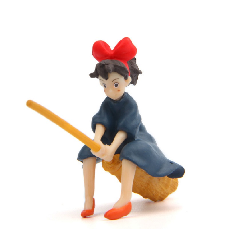 >Hayao Miyazaki Kiki's Delivery Service <font><b>Japanese</b></font> Magic Girl Fairy Garden <font><b>House</b></font> Kiki Sit On The Broom To Fly Landscape Home Decor
