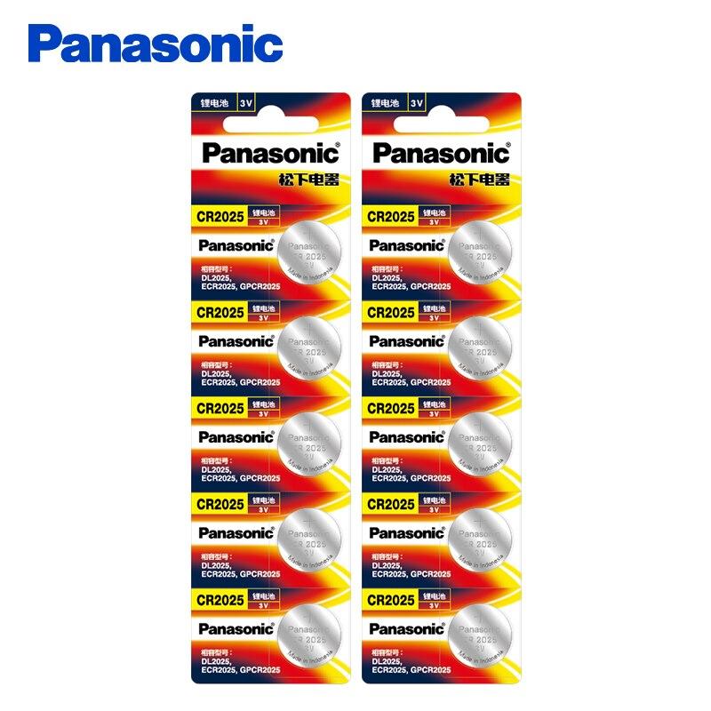 Panasonic оригинальный CR2025 Дисковые батареи 10 шт./лот CR <font><b>2025</b></font> 3 В литиевой Батарея для часы калькулятор Вес Весы