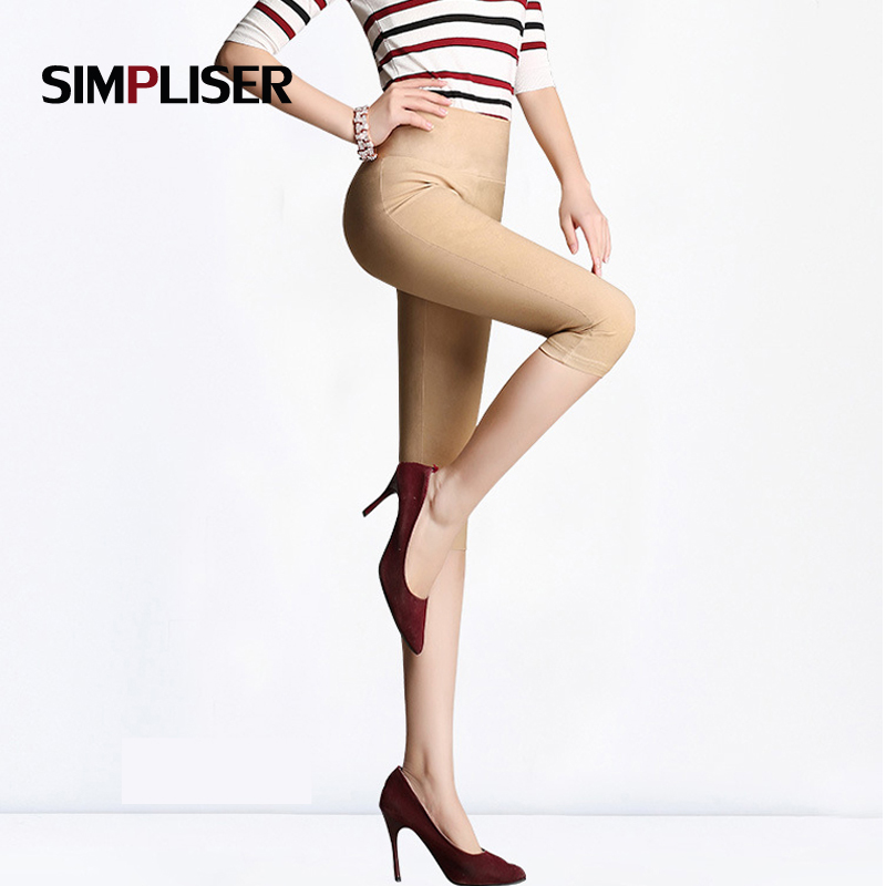 SIMPLISER 14 Colors Women Summer   Capri     Pants   White Black Red Stretch Pencil   Pants   Plus Size 6XL Large Trousers Ladies Fashion