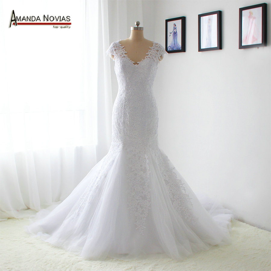 Weddings & Events Orderly Hot Selling Lace Mermaid Wedding Dresses Real Sample Ns1292 Sufficient Supply