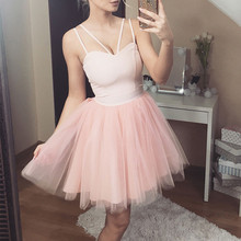 2019 new Women Sexy Mesh Sling Sleeveless vestidos V Neck Off Shoulder dress The upper body is tight loose Evening Party Dress