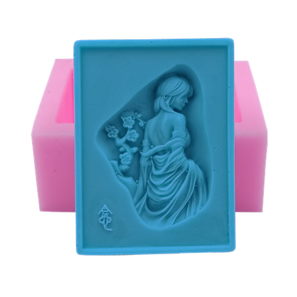 New Lady Design 3D Soap Molds Handmade Silicone Mold for Soap Making