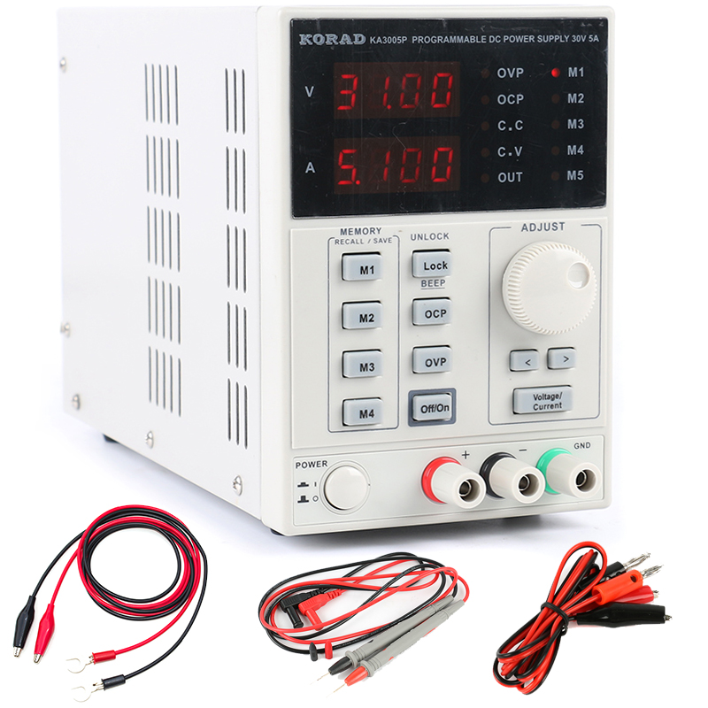 KORAD KA3005P High precision Programmable Adjustable Digital DC POWER SUPPLY 30V/5A R232 and USB Connect computer 220V uni t utp1305 dc power high precision programmable adjustable digital dc power supply 32v 5a usb connect computer eu 230v