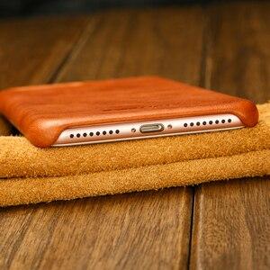 Image 5 - ซองหนังแท้สำหรับ iPhone 7 8 สำหรับ iPhone X Case Jisoncase หนัง Slim Hard Back สำหรับ iPhone 7 8 PLUS 5.5