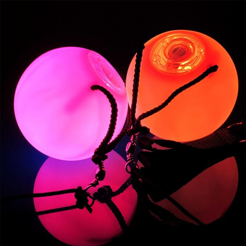 1/2/4 Pcs Professional Belly Dance Level Hand Props LED POI Thrown Balls Waterproof wholesale