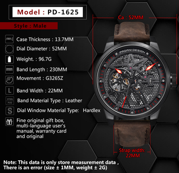Classic Skeleton Mechanical Waterproof Genuine Leather Watch 5