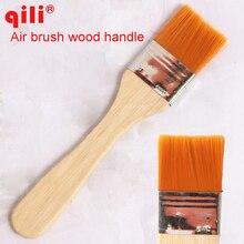 Высококачественная нейлоновая кисть для рисования маслом, кисточка для барбекю для рисования искусство легко чистить деревянная Чистящая Щетка автоматическая щетка для чистки