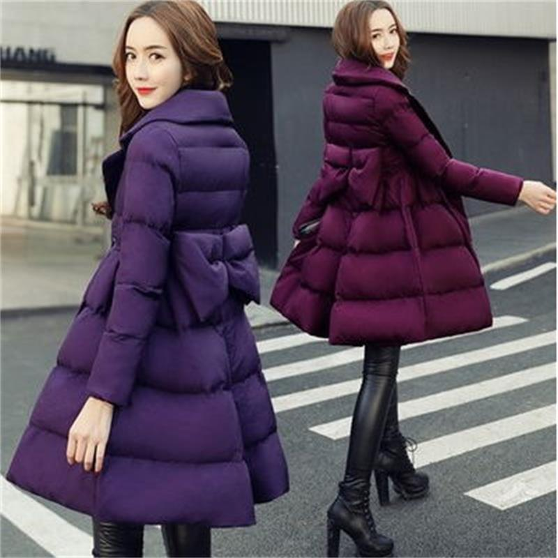 2018 Lâche Long Doudoune purple Vestes Hiver Taille Femme Chaud Survêtement Grande redwine Slim Femmes Parkas Manteau Plus Black gqddw