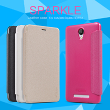 For xiaomi redmi note 2 Nillkin sparkle PU leather hard plastic back cover case for redmi