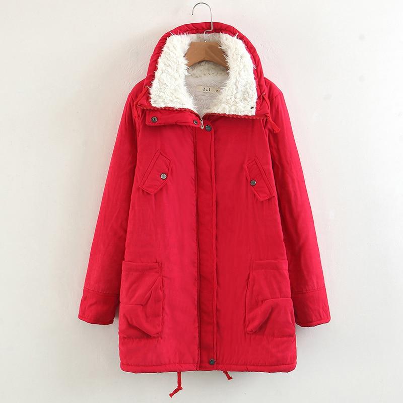 YF New Long Parkas Womens Winter Jacket Coat Cotton Warm Jacket Womens Outwear Parkas Plus Size Fur Coat 2018