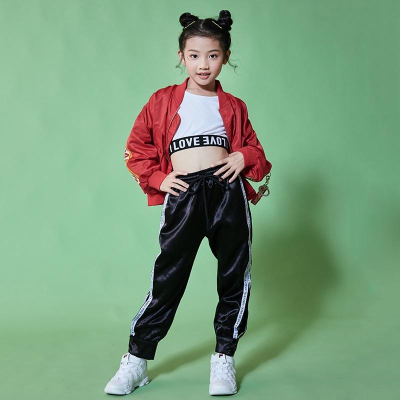 6b8e219d0a0da Hip Hop niños traje de niñas de moda Rave ropa niños danza Jazz traje etapa  práctica usar DC1071 en Salón de baile de La novedad y de uso especial en  ...