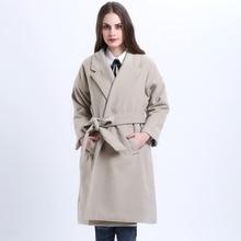 2017 Women Autumn Winter Coats Jackets Thick Long Poncho Coats Belt Oversized High Quality Winter Quilt Long Coat Manteau Femme