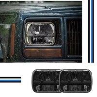 2 PCS Truck 5x7 Rectangular LED Headlight Kit Hi / Low Beam Headlights For Jeep YJ Wrangler XJ Cherokee MJ Comanche