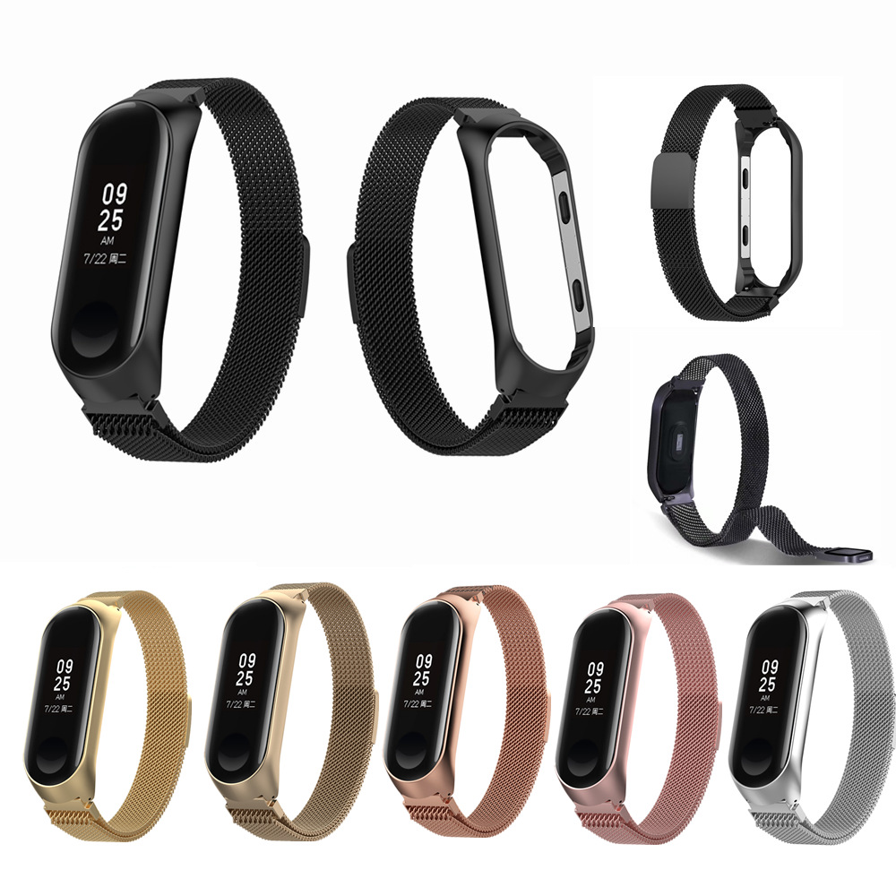 Milanese Magnetic Wristband For Xiaomi Mi Band 4 Strap Stainless Steel Metal Bracelet For Mi Band 4 Accessories For Mi Band 3