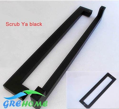 Staal deurklink zwart handvat huis Versiering Deur Hardware Sloten ...